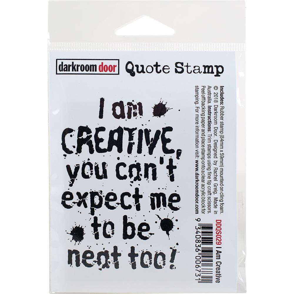 Darkroom Door Quote Cling Stamp I Am Creative - Scrap Of Your Life