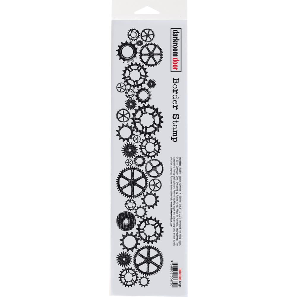 Darkroom Door Cogs Border Cling Stamp - Scrap Of Your Life