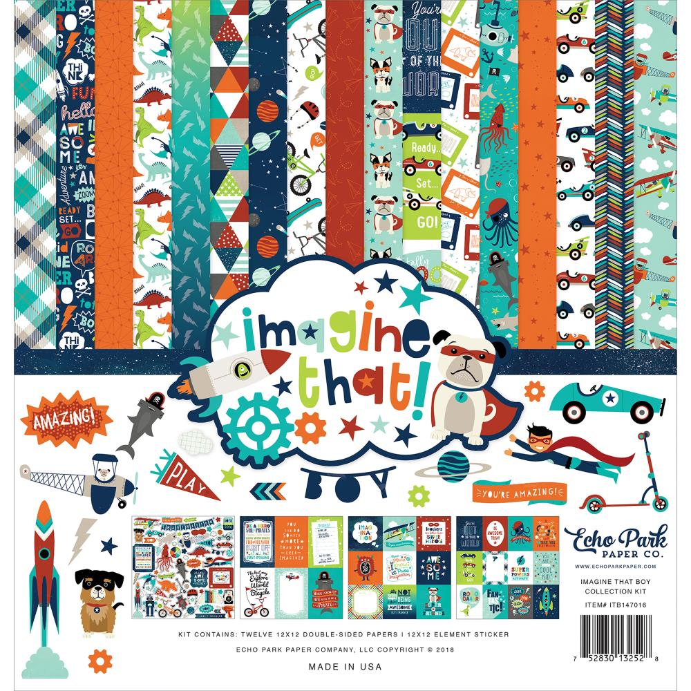 Echo Park 12 x 12 Collection Kit Imagine That Boy - Scrap Of Your Life