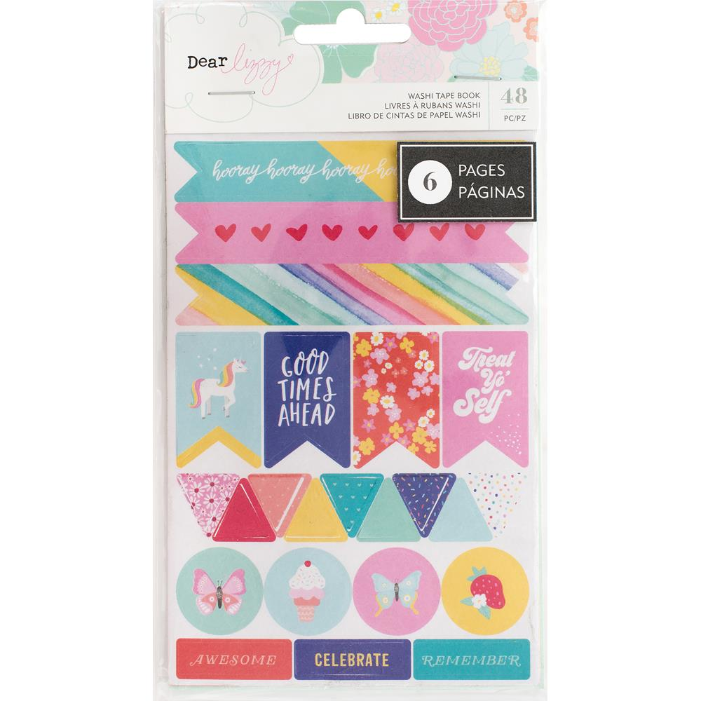 American Crafts Dear Lizzy Stay Colorful Washi Tape Stickers 6-Page Book - Scrap Of Your Life