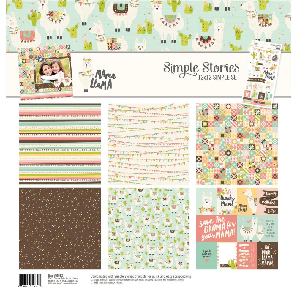 "Simple Stories - Mama Llama Collection - Paper Kit 12"" x 12"" - Scrap Of Your Life"