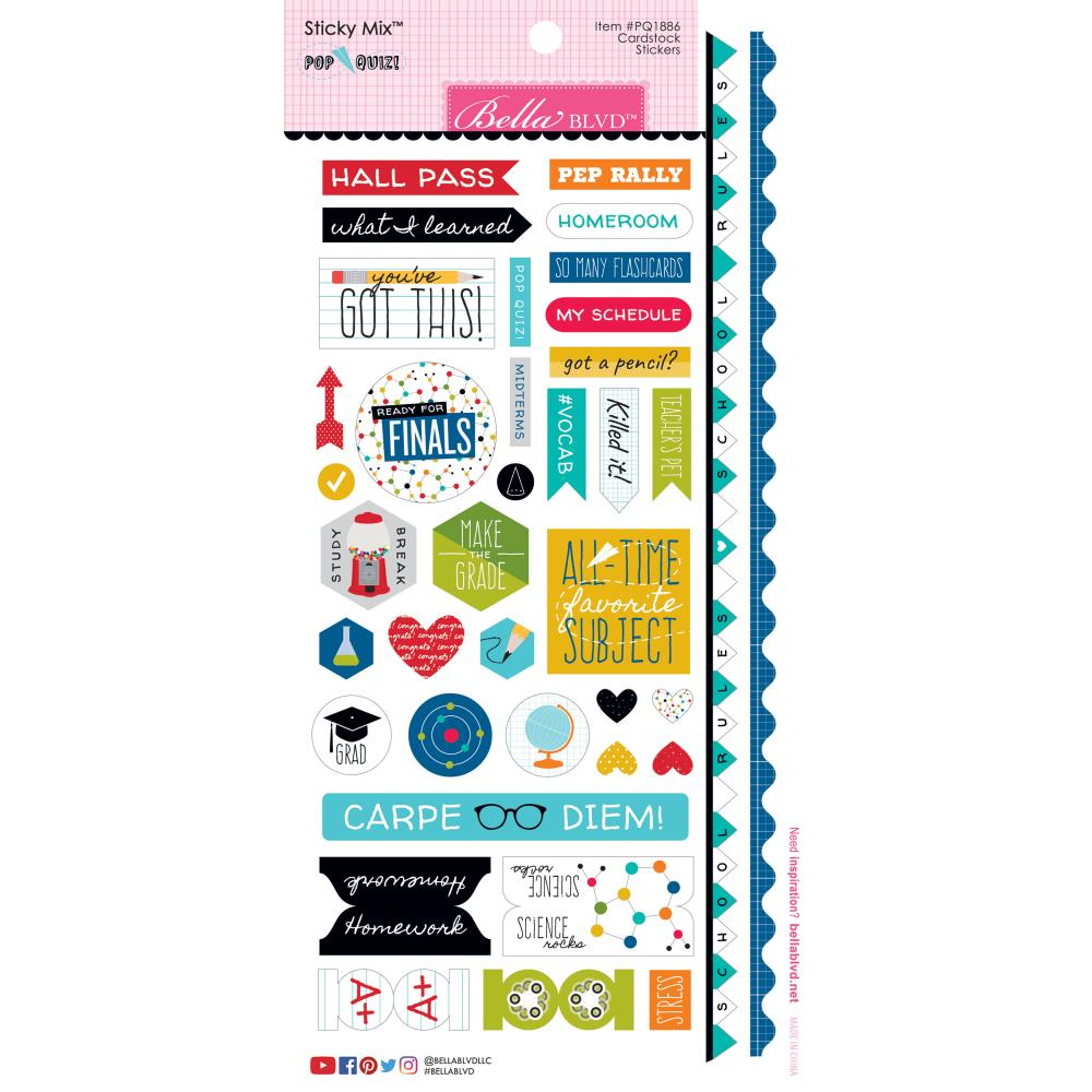 Bella Blvd Pop Quiz Cardstock Stickers - Scrap Of Your Life