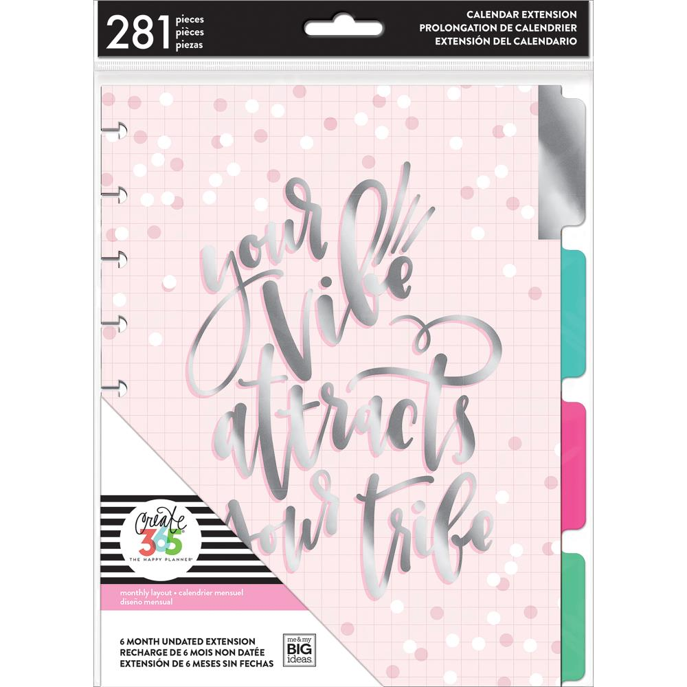 Happy Planner 6-Month Undated Medium Planner Extension Pack Your Vibe
