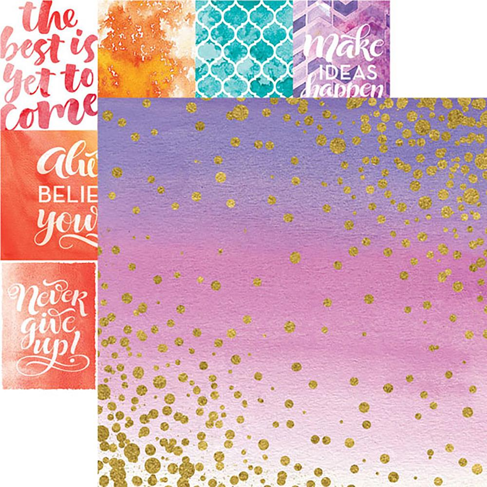 Paper House Productions - Color Washed Collection - 12 x 12 Double Sided Paper with Foil Accents  - Sparkle - Scrap Of Your Life