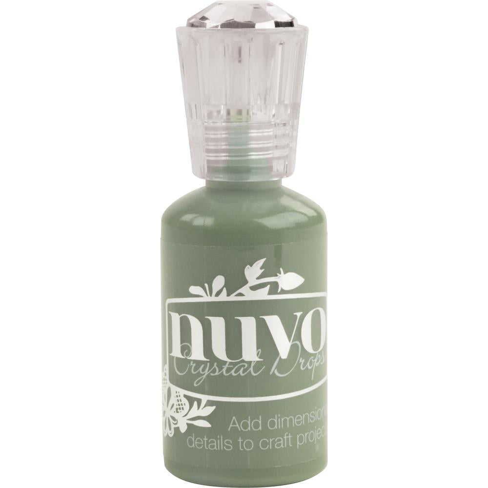 Tonic Studios Nuvo Clear Embossing Pad Nuvo Crystal Drops - Olive Branch - Scrap Of Your Life