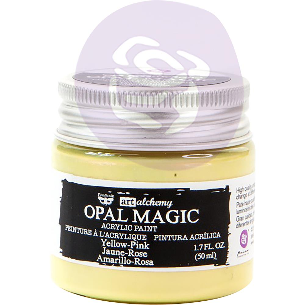 Finnabair Art Alchemy Opal Magic Acrylic Paint Yellow Pink - Scrap Of Your Life