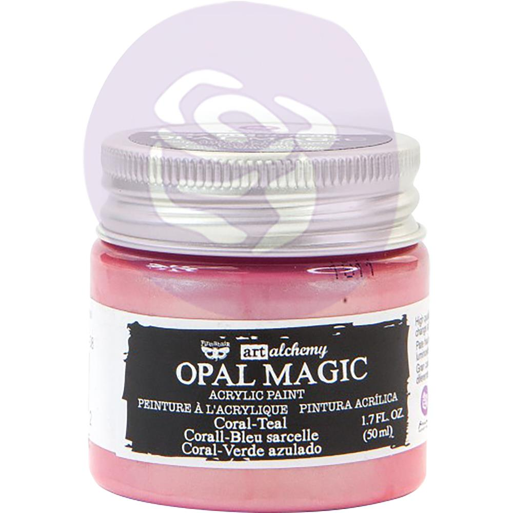 Finnabair Art Alchemy Opal Magic Acrylic Paint Coral Teal - Scrap Of Your Life