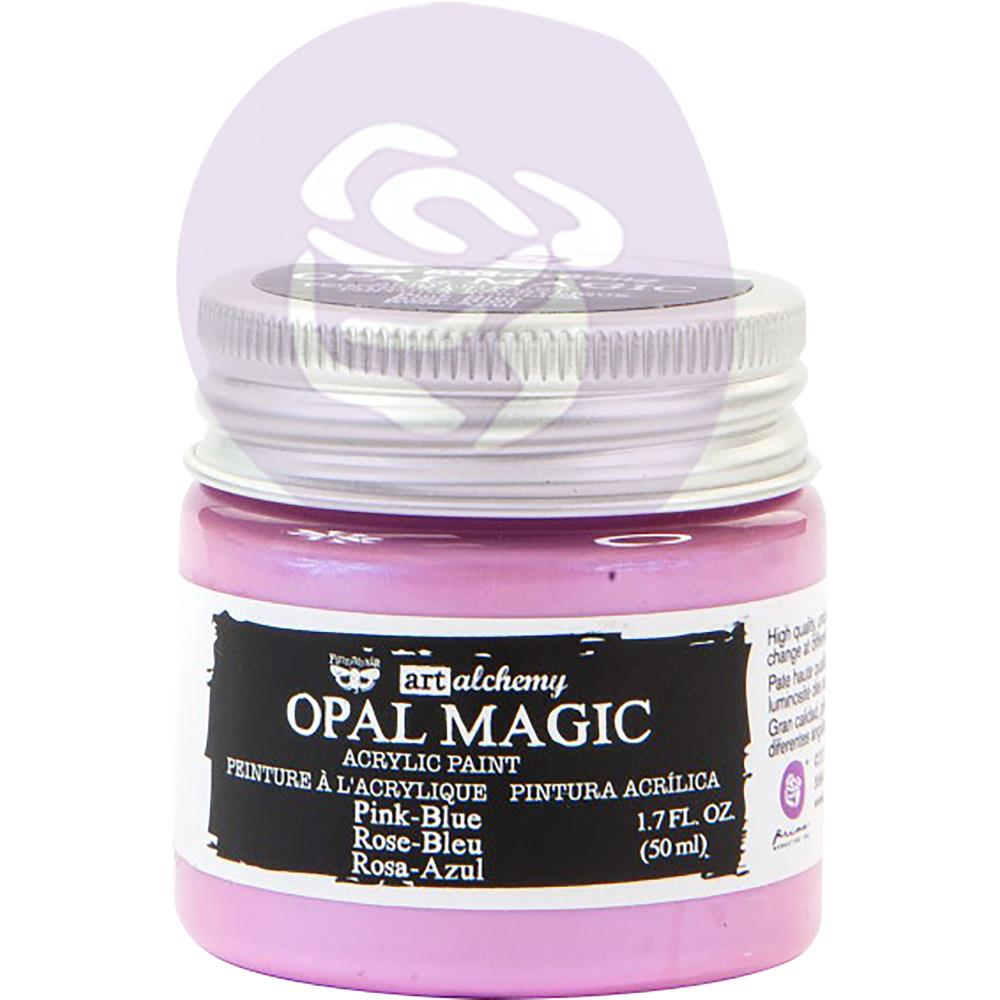 Finnabair Art Alchemy Opal Magic Acrylic Paint  Pink Blue - Scrap Of Your Life
