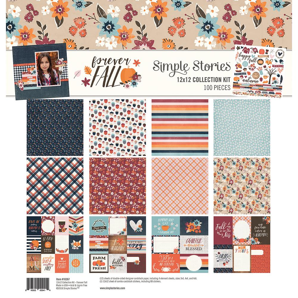 Simple Stories 12 x 12 Collection Kit Forever Fall