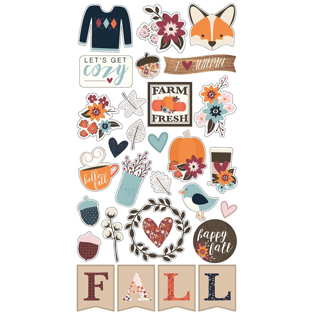 Simple Stories Forever Fall Chipboard Stickers