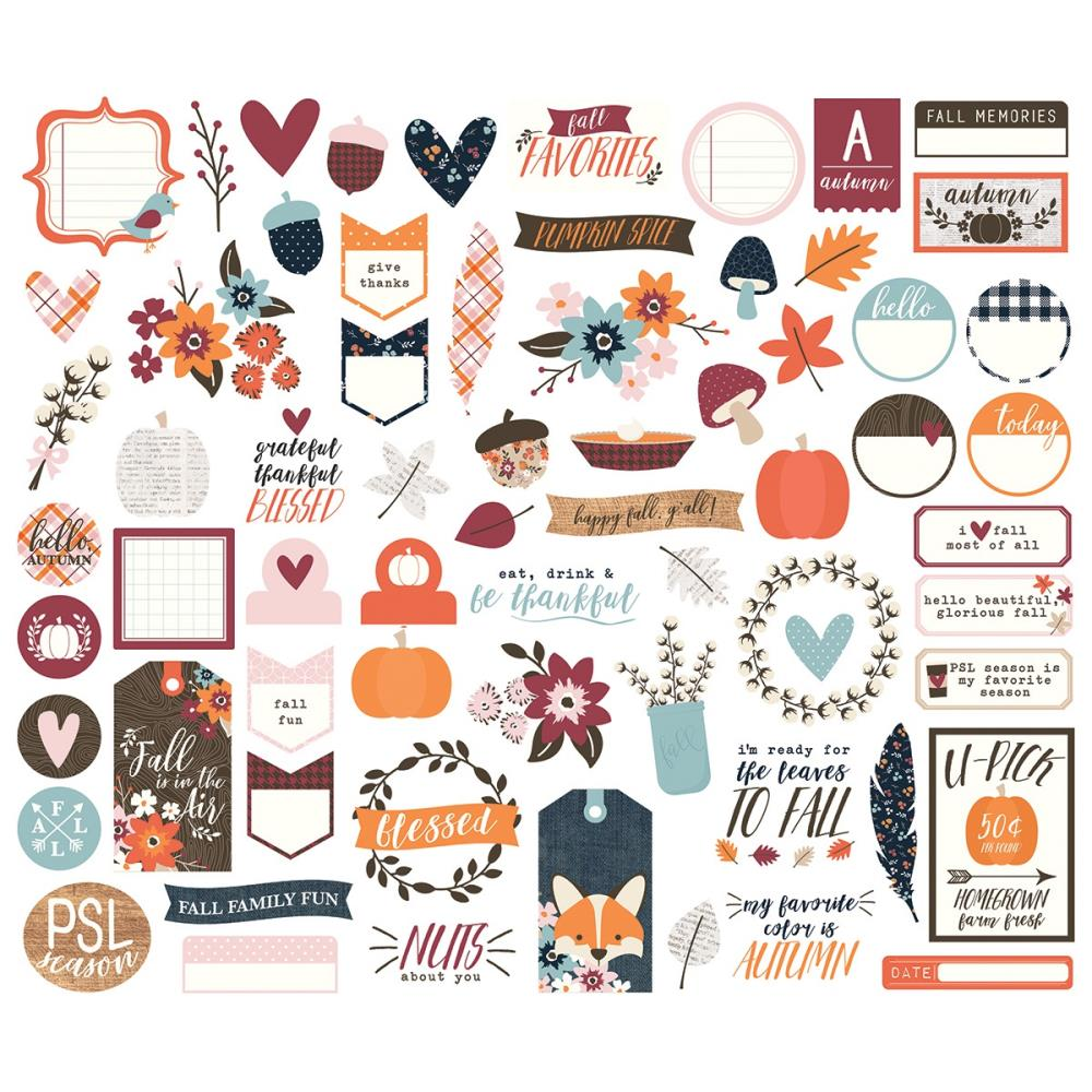 Simple Stories Forever Fall Bits n Pieces Diecuts - Scrap Of Your Life