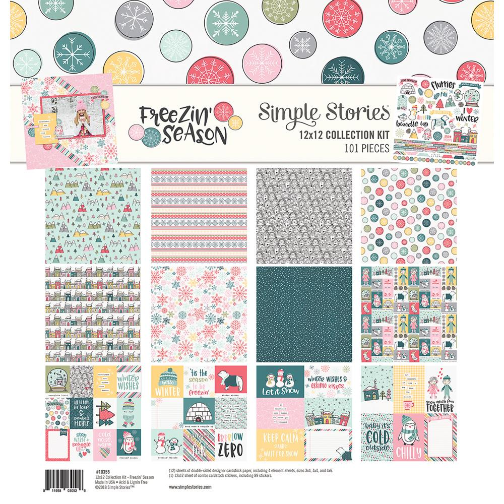 "Simple Stories - Freezin' Season  Collection Kit 12""X12"" - Scrap Of Your Life"