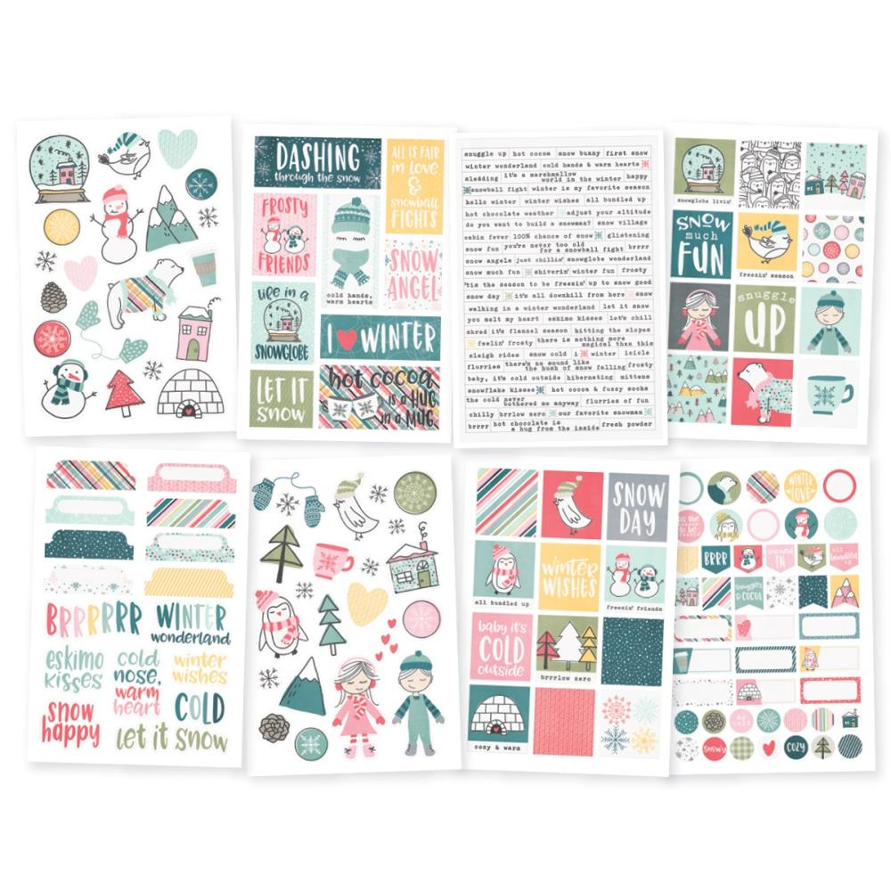 Simple Stories - Clear Stickers - Freezin Season - Scrap Of Your Life