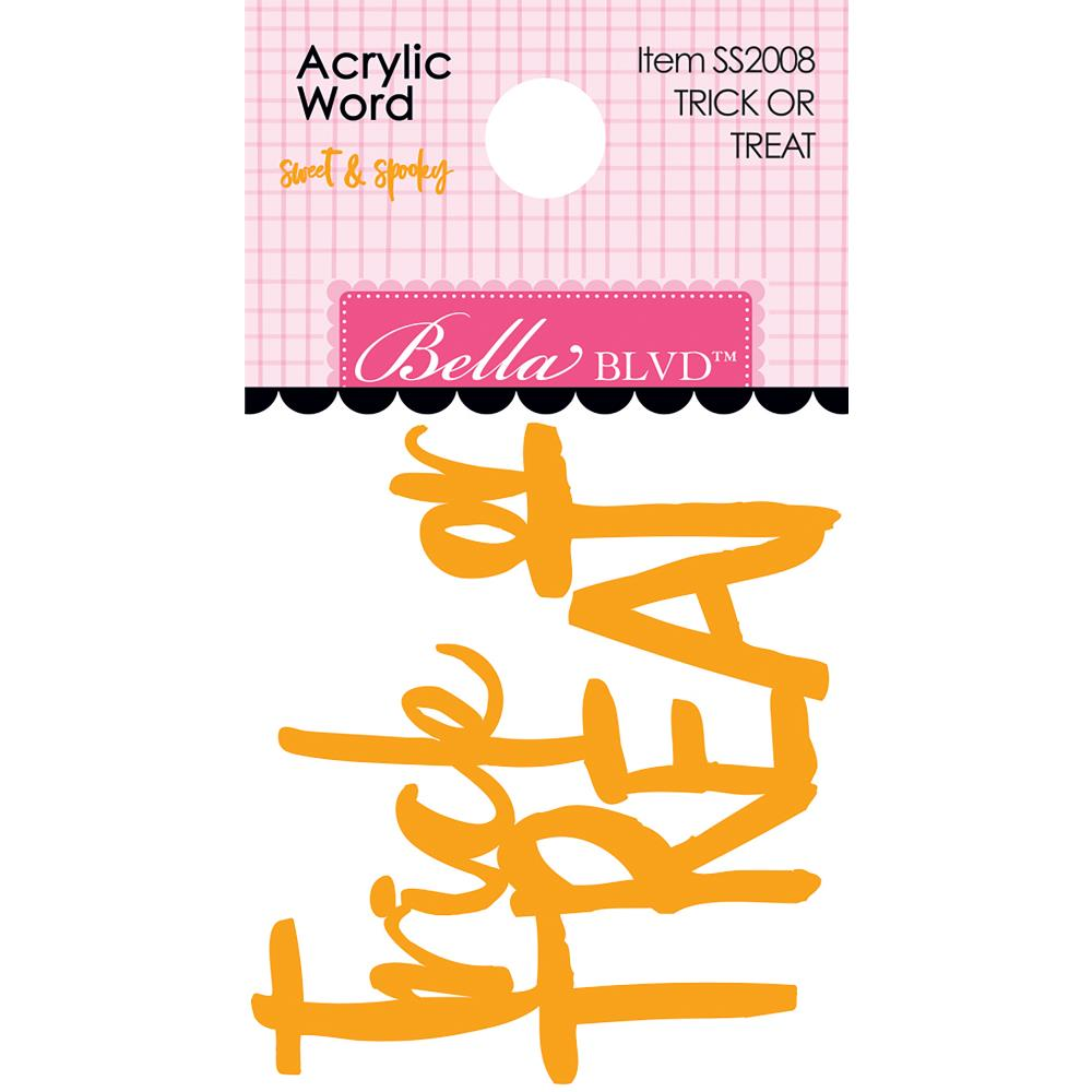 Bella Blvd Sweet & Spooky Acrylic Word Trick or Treat - Scrap Of Your Life