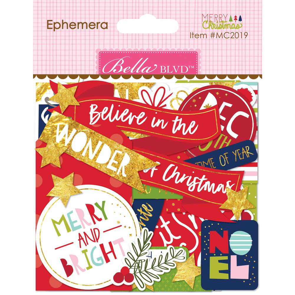 Bella Blvd Very Merry  Christmas Die-Cuts Ephemera - Scrap Of Your Life