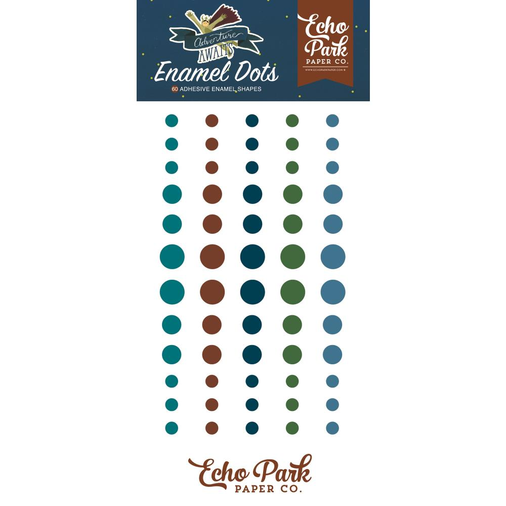 Echo Park Adventure Awaits Adhesive Enamel Dots - Scrap Of Your Life