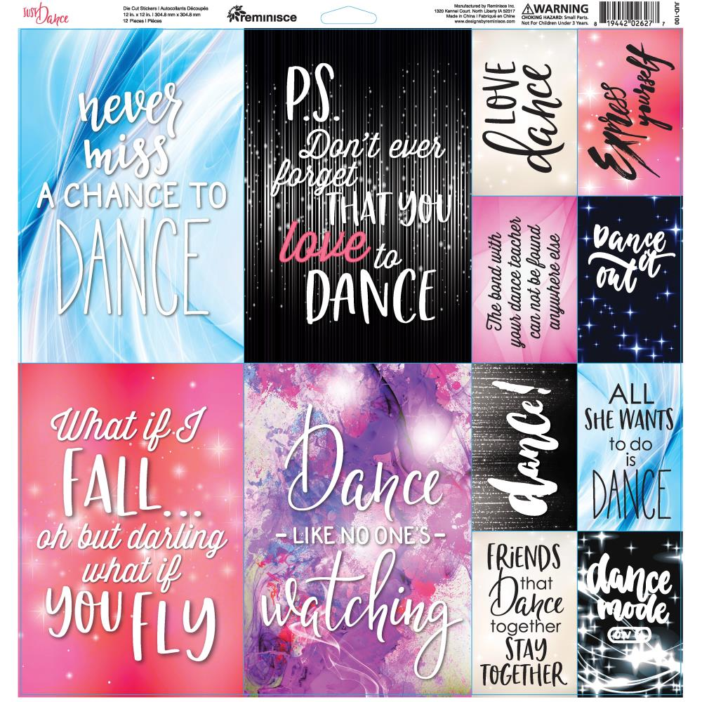 "Reminisce Just Dance Elements Stickers 12""X12"""