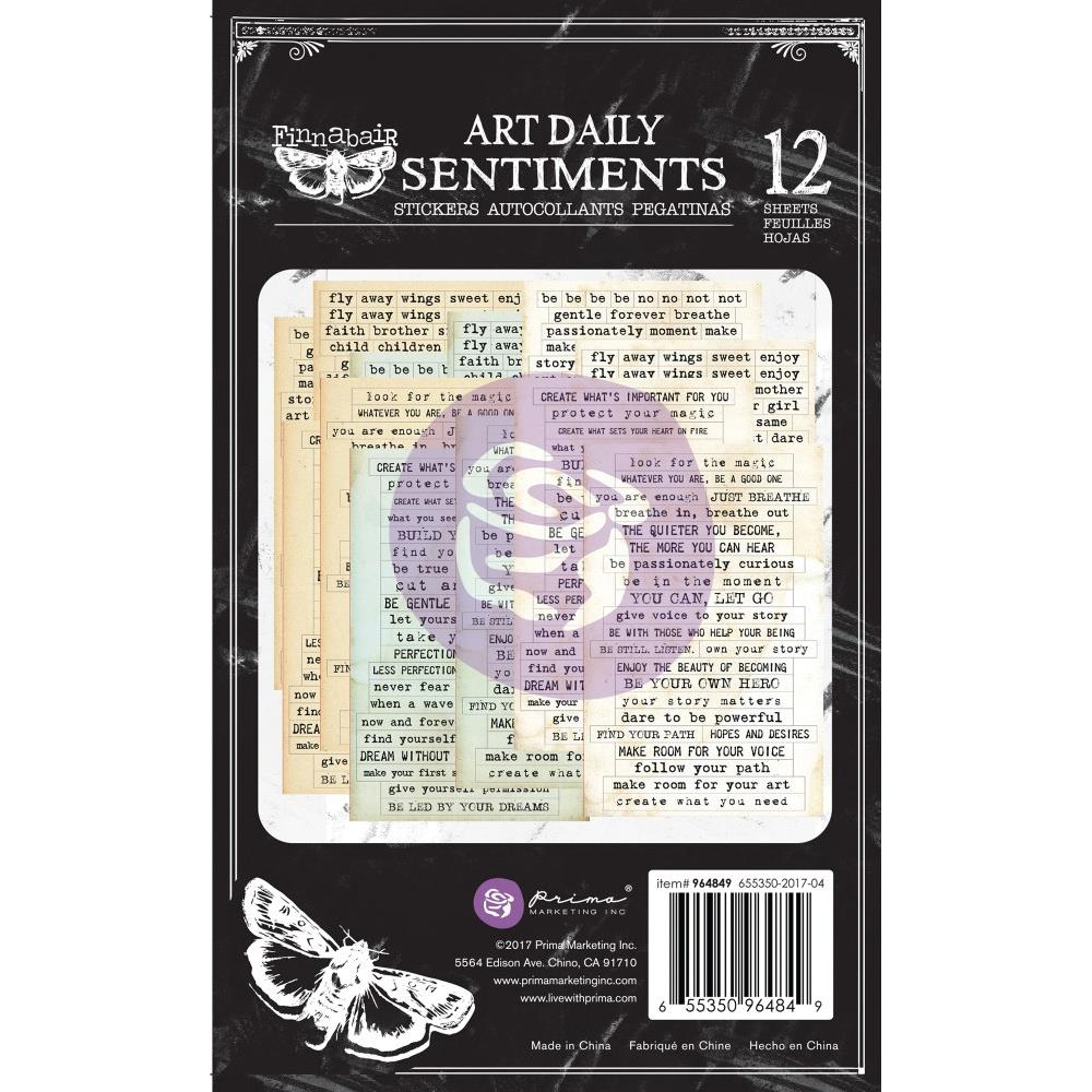 Finnabair Art Daily Planner Sticker Pad Sentiments
