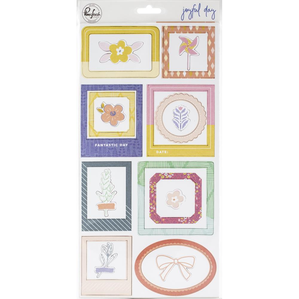 Pink Fresh Joyful Day Chipboard Frames & Accent Stickers