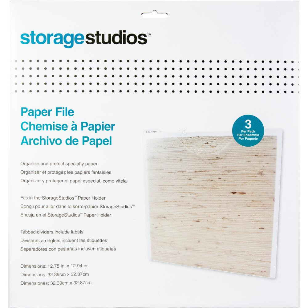 Storage Studios Paper Files W/Tabbed Dividers & Labels 3/Pkg - Scrap Of Your Life