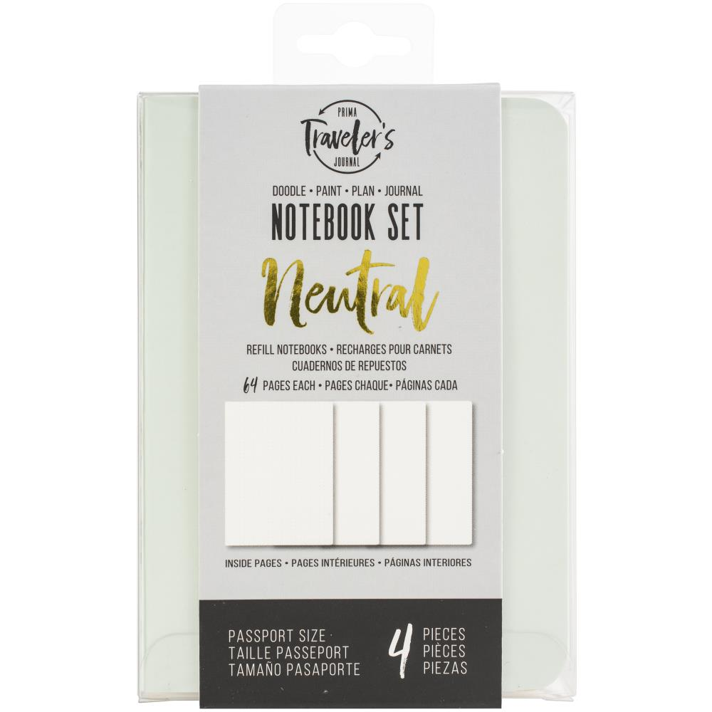 Prima Marketing Traveler's Journal Passport Refill  Neutral 4/Pkg - Scrap Of Your Life