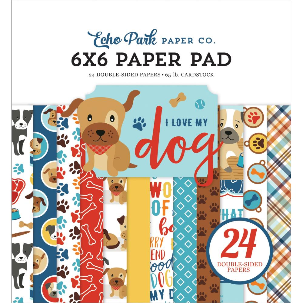 "Echo Park -  I Love My Dog Double-Sided Paper Pad 6""X6"" - Scrap Of Your Life"