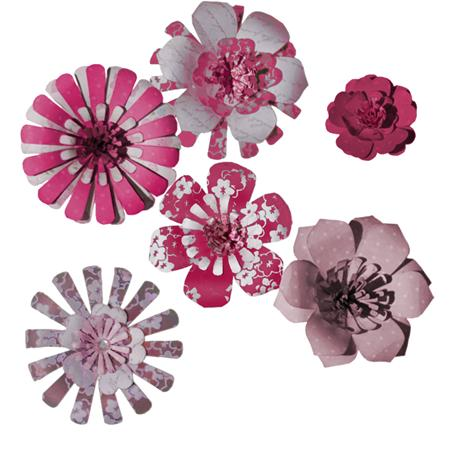 Imaginisce  Pop-up Posies Pinks - Scrap Of Your Life