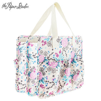 The Paper Studio Pink & Blue Floral Tag Along Tote