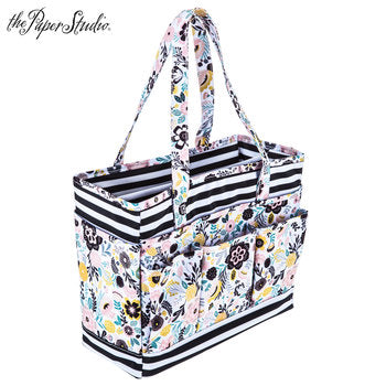 Floral & Striped Planner Tote