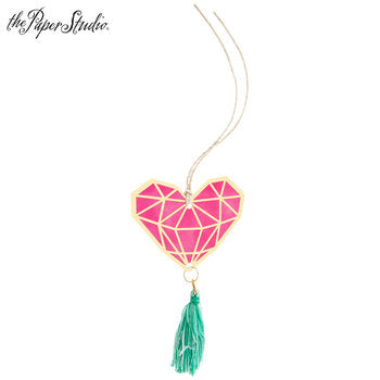 Geometric Heart Tassel Tags
