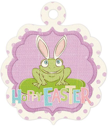 WRMK Embossed Tags Cottontail Happy Easter