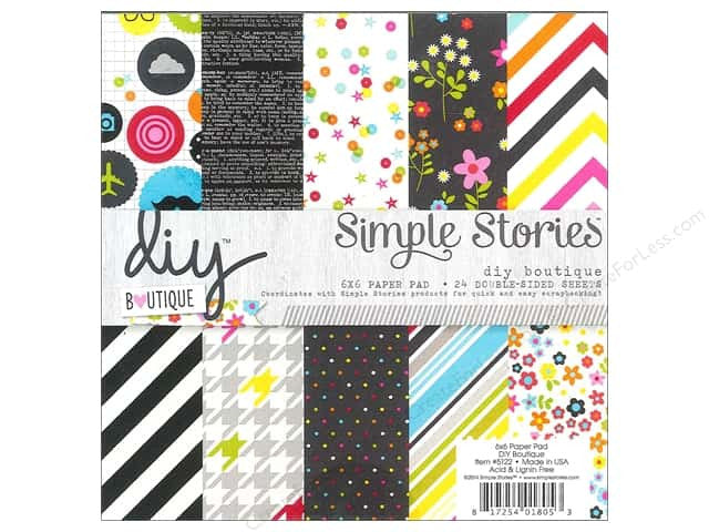 Simple Stories DIY Boutique 6 x 6 Double Sided Paper Pad