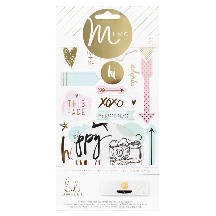 Heidi Swapp Minc Icon Stickers - Scrap Of Your Life