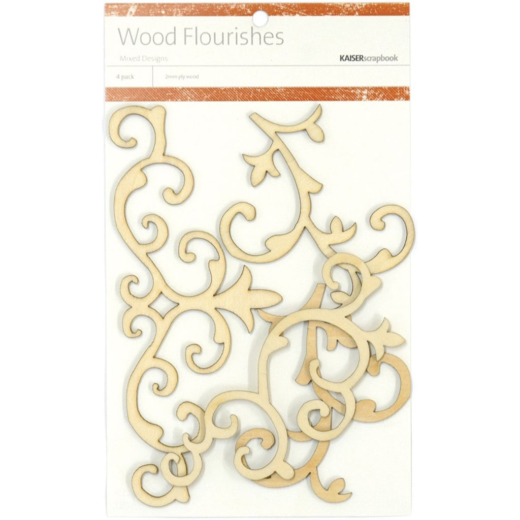 Kaisercraft Wood Flourishes Flourishes