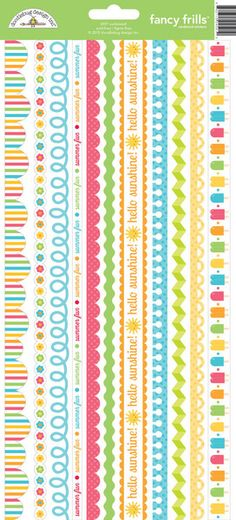 Doodlebug Sunkissed Collection Stickers