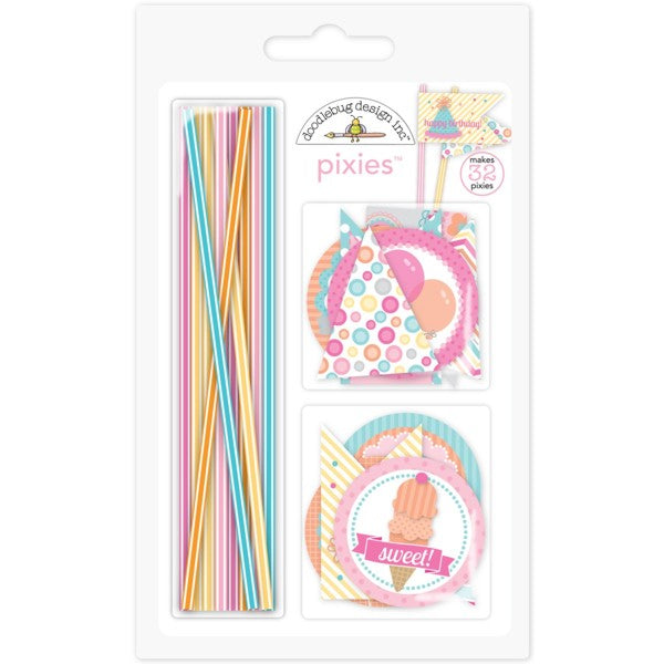 Doodlebug Design - Sugar Shop  Collection - Pixies - Straw Picks - Scrap Of Your Life