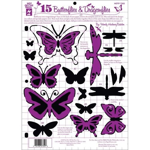 HOTP Butterflies and Dragonflies Template - Scrap Of Your Life