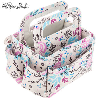 The Paper Studio Pink & Blue Floral Tiny Tote - Scrap Of Your Life