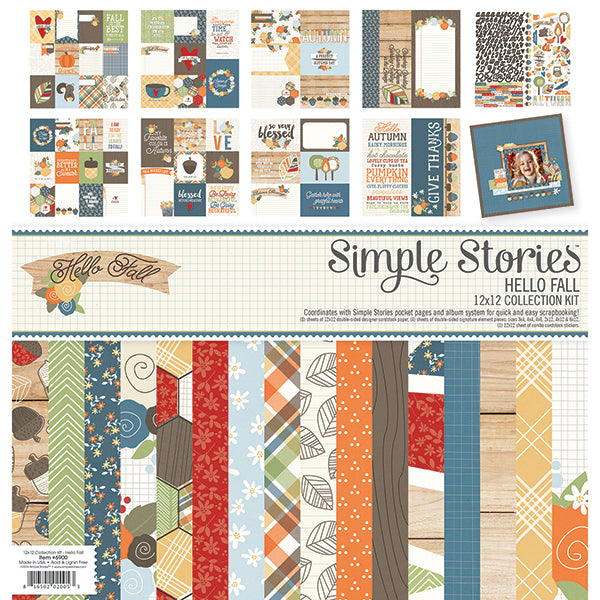 Simple Stories - Hello Fall Collection - 12 x 12 - Scrap Of Your Life