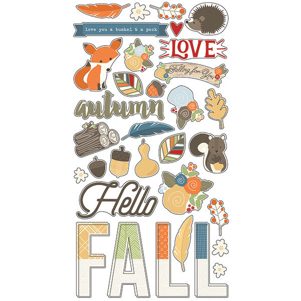 Simple Stories Hello Fall 6 x 12 Chipboard