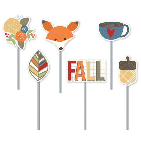Simple Stories Hello Fall Decorative Metal Clips