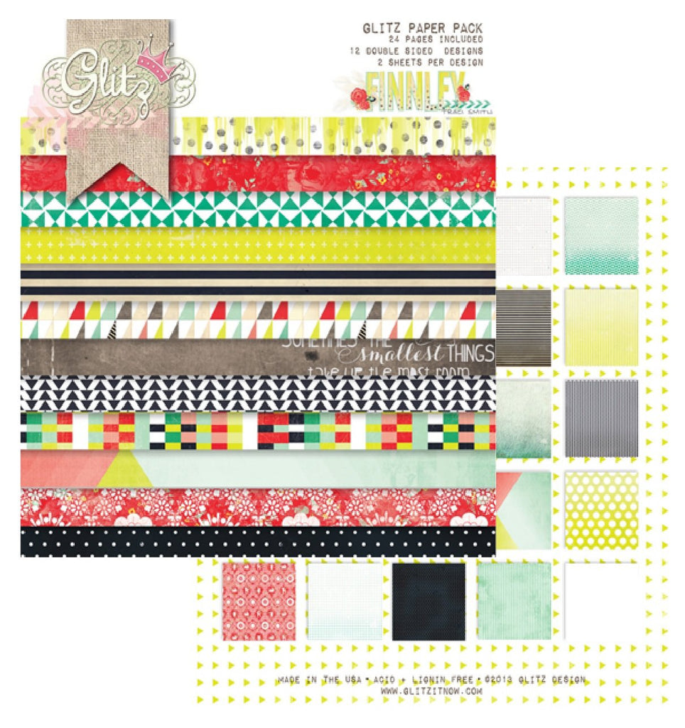 "Glitz Designs - Finley Collection - 6"" x 6"" Paper Pad - Scrap Of Your Life"