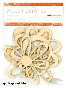 Kaisercraft Wood Flourishes Retro Flowers