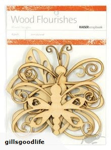 Kaisercraft Wood Flourishes Butterflies