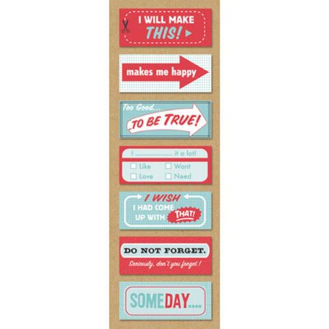 K and Company - SMASH Collection - Red and Blue Stickies - Scrap Of Your Life