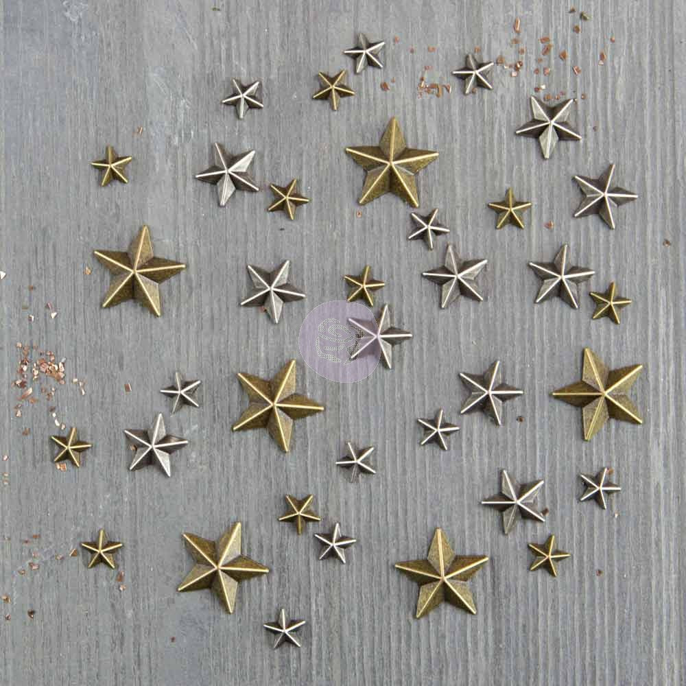 Finnabair Mechanicals Metal Embellishments Mini Stars - Scrap Of Your Life
