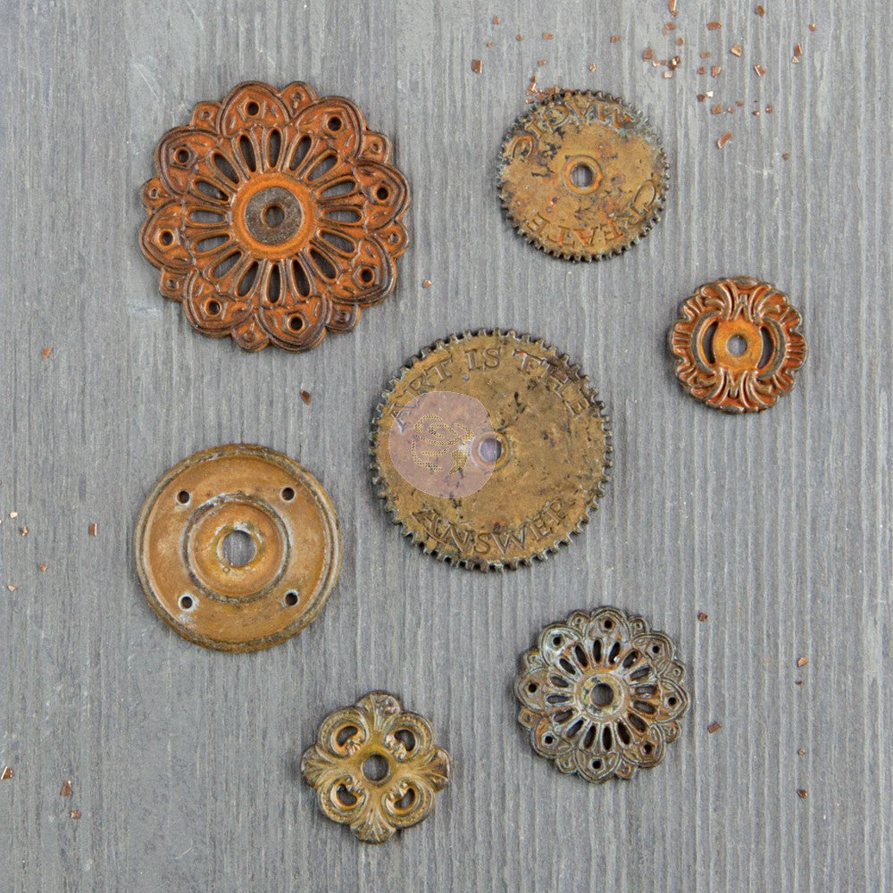 Finnabair Mechanicals Metal Embellishments Rustic Washer - Scrap Of Your Life