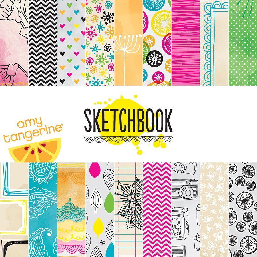 American Crafts - Amy Tangerine Collection - Sketchbook - 6 x 6 Paper Pad - Scrap Of Your Life
