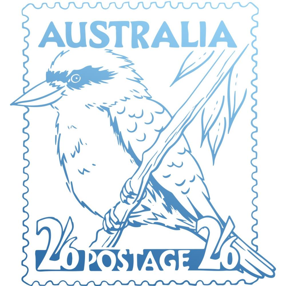 Couture Creations Sunburnt Country Mini Stamp - Kookaburra - Scrap Of Your Life