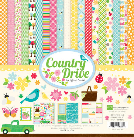 "Echo Park 12""x12"" Paper Collection Country Drive - Scrap Of Your Life"